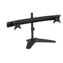 Novatech Dual Monitor Stand V2 - Desktop Base - Quick Release Brackets - Black